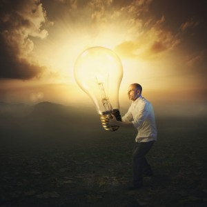 Light Bulb Sunset