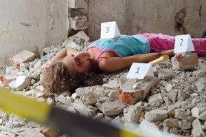 Abandoned body found in a building in construction