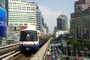 12779419-Bangkok-Thailand-March-17-2012-BTS-Skytrain-in-Bangkok-The-Bangkok-Mass-Transit-System-commonly-know-Stock-Photo