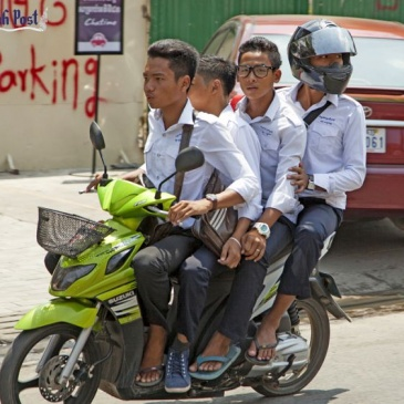 Cambodia's Lack Of Helmet Education